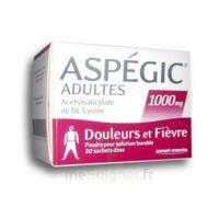 ASPEGIC ADULTES 1000 mg, poudre pour solution buvable en sachet-dose 20 à Bergerac