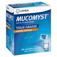 MUCOMYST 200 mg Poudre pour solution buvable en sachet B/18 à Bergerac
