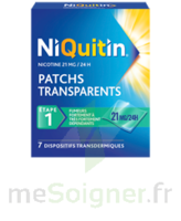 NIQUITIN 21 mg/24 heures, dispositif transdermique Sach/7 à Bergerac