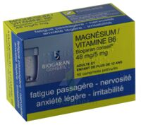 Magnesium/vitamine B6 Biogaran Conseil 48 Mg/5 Mg, Comprimé Pelliculé à Bergerac