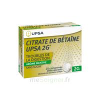 Citrate de Bétaïne UPSA 2 g Comprimés effervescents sans sucre menthe édulcoré à la saccharine sodique T/20 à Bergerac