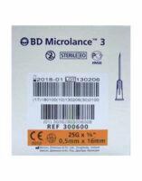 BD MICROLANCE 3, G25 5/8, 0,5 mm x 16 mm, orange  à Bergerac