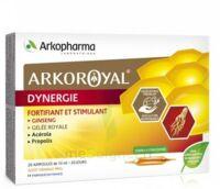 Arkoroyal Dynergie Ginseng Gelée Royale Propolis Solution Buvable 20 Ampoules/10ml à Bergerac