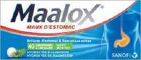 MAALOX HYDROXYDE D'ALUMINIUM/HYDROXYDE DE MAGNESIUM 400 mg/400 mg Cpr à croquer maux d'estomac Plq/40 à Bergerac