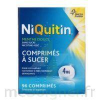 NIQUITIN MENTHE DOUCE 4 mg SANS SUCRE, comprimé à sucer édulcoré à l'aspartam à Bergerac