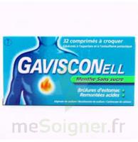 GAVISCONELL Coprimés à croquer sans sucre menthe édulcoré à l'aspartam et à l'acésulfame potas Plq/24 à Bergerac