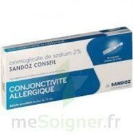 CROMOGLICATE DE SODIUM SANDOZ CONSEIL 2 %, collyre en solution en récipient unidose 10Unid/0,3ml à Bergerac