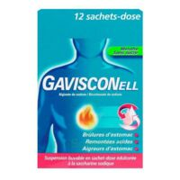 GAVISCONELL Suspension buvable sachet-dose menthe sans sucre 12Sach/10ml à Bergerac