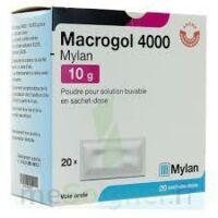MACROGOL 4000 MYLAN 10 g, poudre pour solution buvable en sachet-dose à Bergerac
