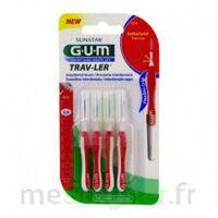 Gum Trav - Ler, 0,8 Mm, Manche Rouge , Blister 4 à Bergerac