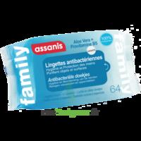Assanis Family Lingette Antibactérien Mains Pochette/64 à Bergerac
