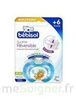 Bebisol Slim - Sucette physiologique silicone jour +6mois bleu T2 à Bergerac